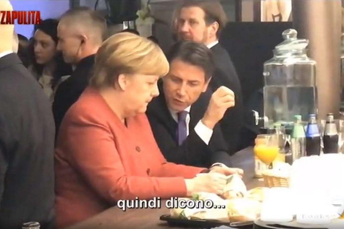 In un fuorionda Conte svela alla Merkel la politica dei 5 Stelle