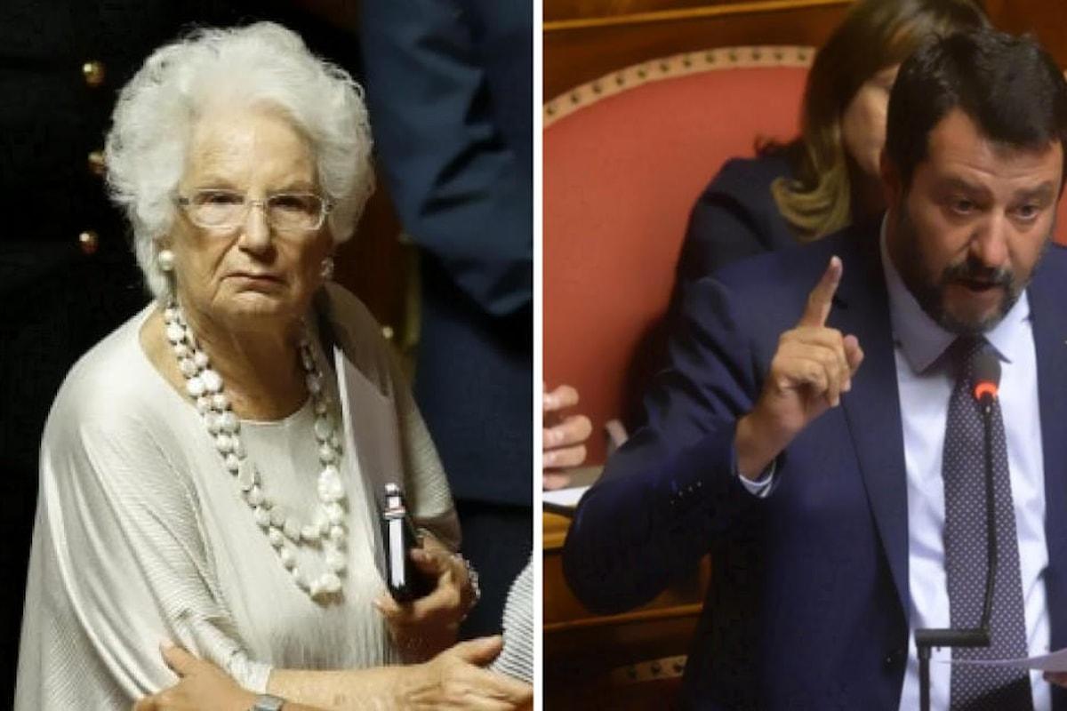Al Senato Liliana Segre ha denunciato l'effetto di un farsesco ma pericoloso revival del Gott mit uns
