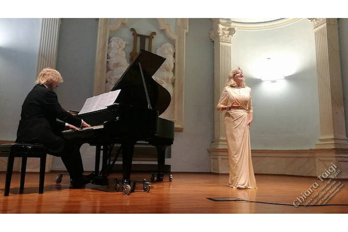 """CHIARA TAIGI, successo per il Recital """"Verdi e Mascagni si incontrano..."""" all'Auditorium Orpheus di Torino"""