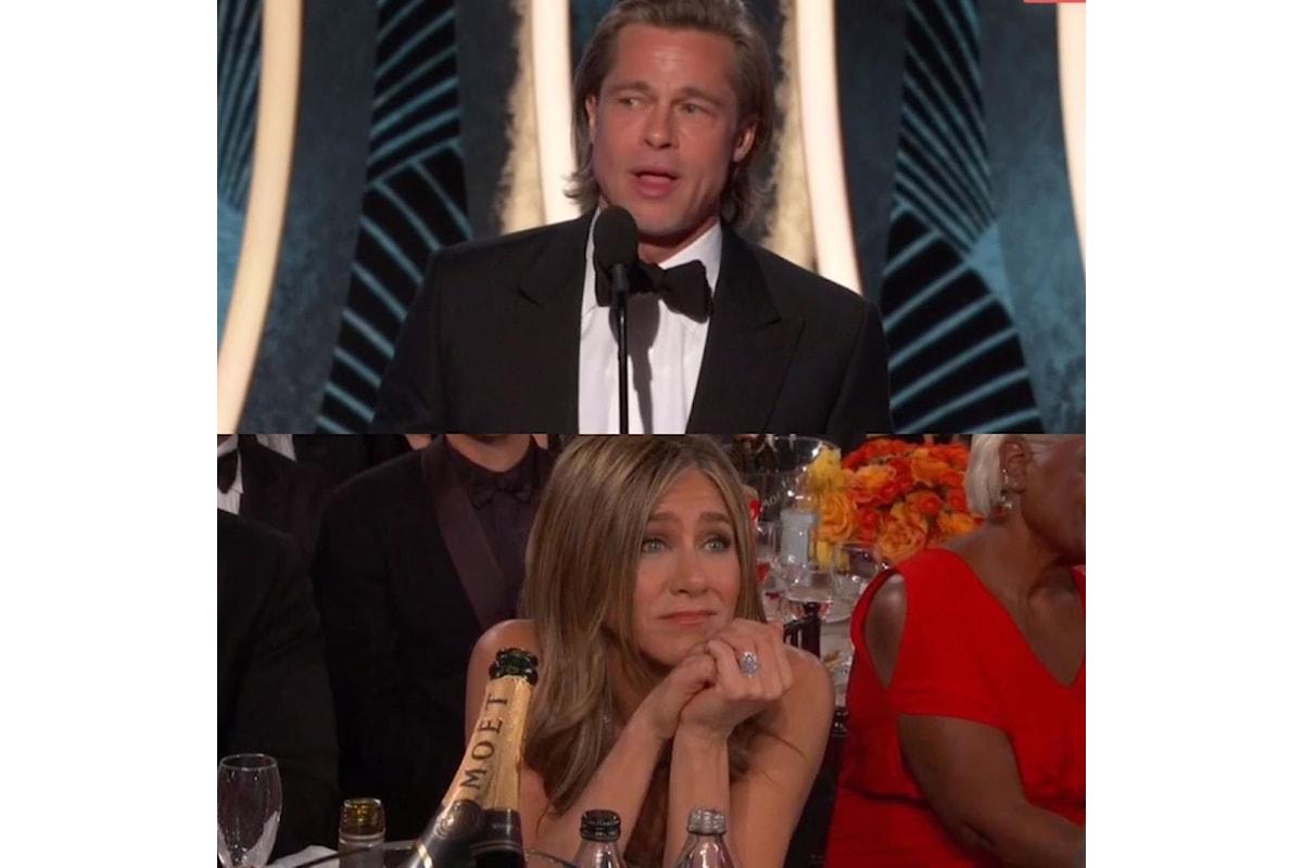 Brad Pitt e Jennifer Aniston di nuovo insieme ai Golden Globe