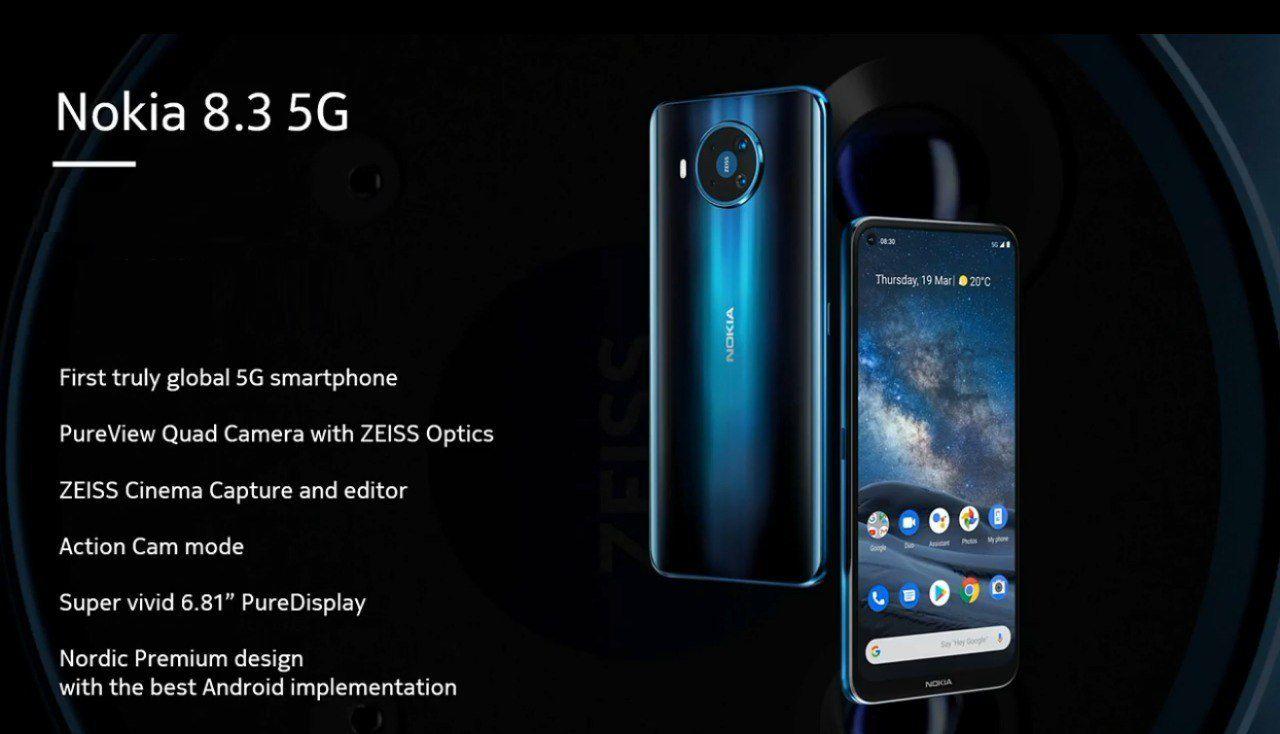 Nokia 8.3 5G è stato presentato ufficialmente: anche Nokia ha il suo smartphone 5G, ma non è un top di gamma