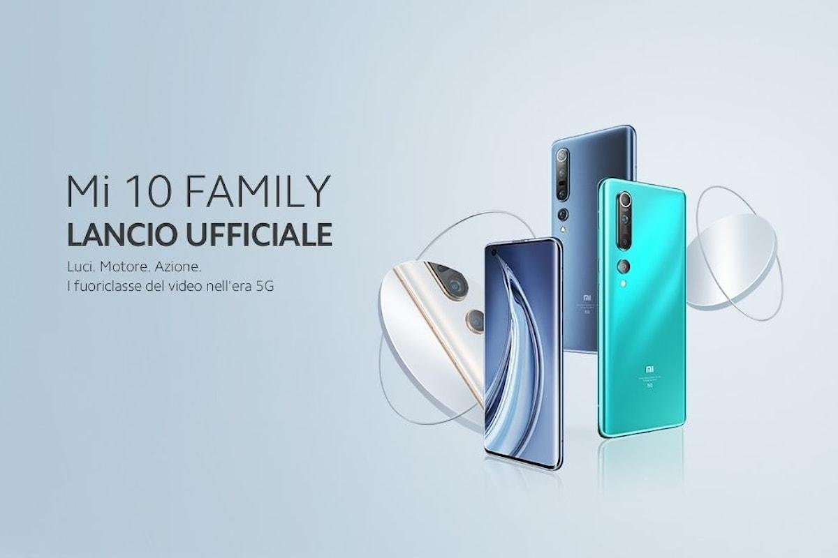 Xiaomi Mi 10 e Xiaomi Mi 10 Pro ufficiali anche in Italia: caratteristiche e prezzi da top di gamma