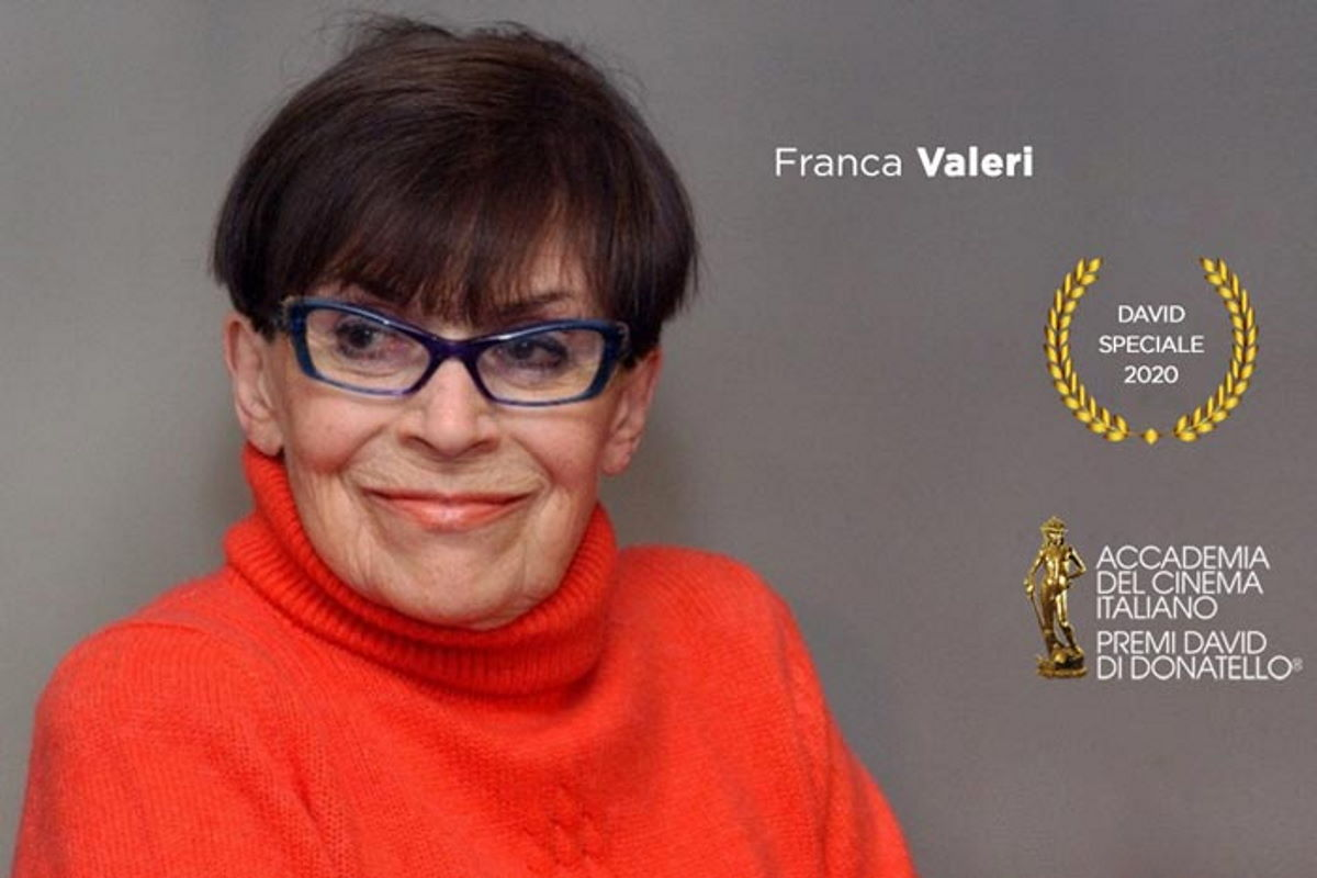 A Franca Valeri il premio David Speciale 2020 per la la 65.a edizione dei Premi David di Donatello