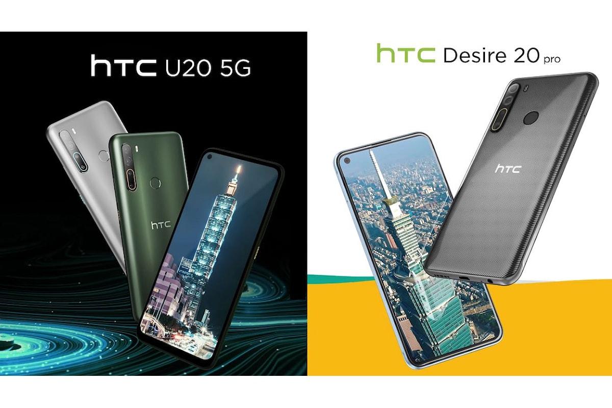 HTC ci riprova e lancia sul mercato i nuovi HTC U20 5G e HTC Desire 20 Pro