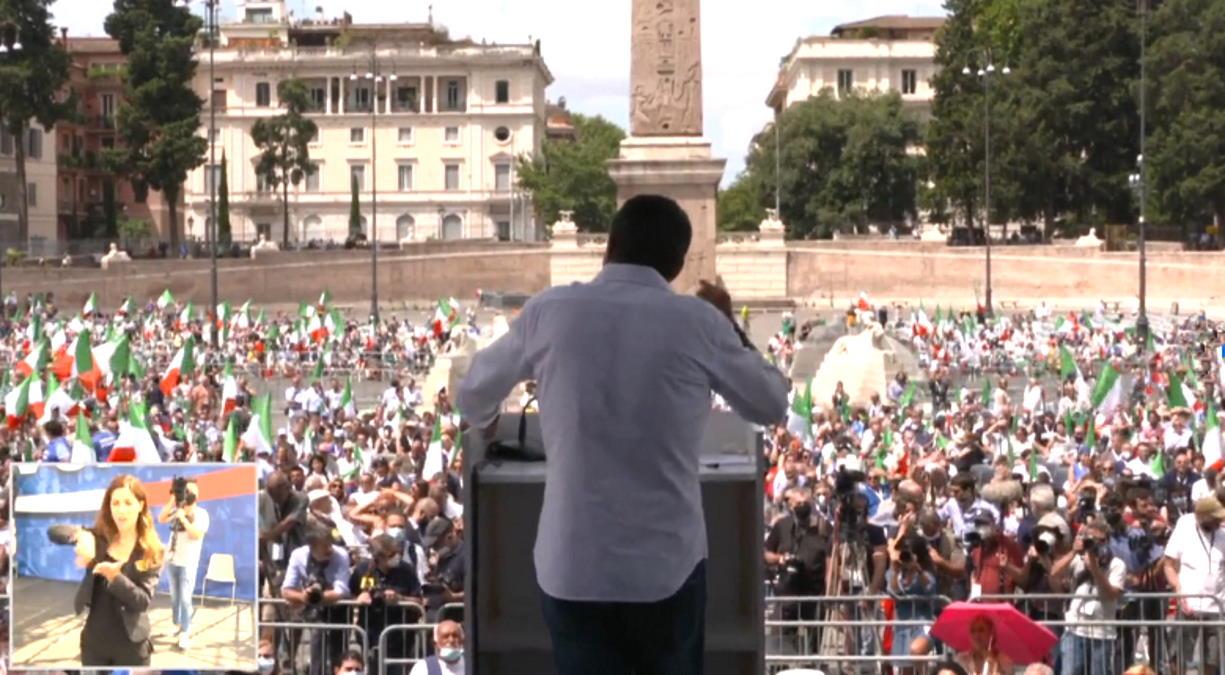 Il deludente 4 luglio dell'estrema destra riunita in Piazza del Popolo