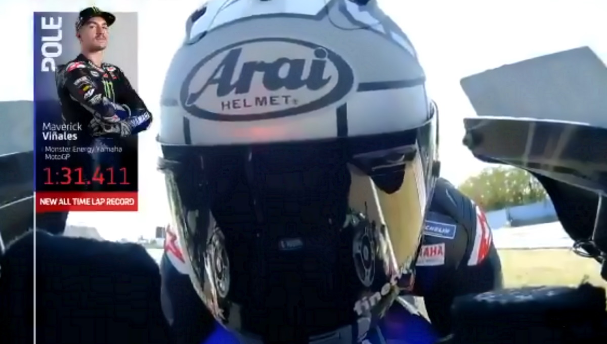 MotoGP, a Misano Vinales in pole con tutte le moto Yamaha ad occupare i primi quattro posti in griglia