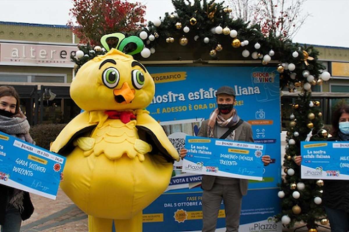 """Le Piazze, premiati i vincitori del contest fotografico """"La nostra estate italiana""""; in arrivo un nuovo gioco interattivo, questa volta dedicato al Natale."""