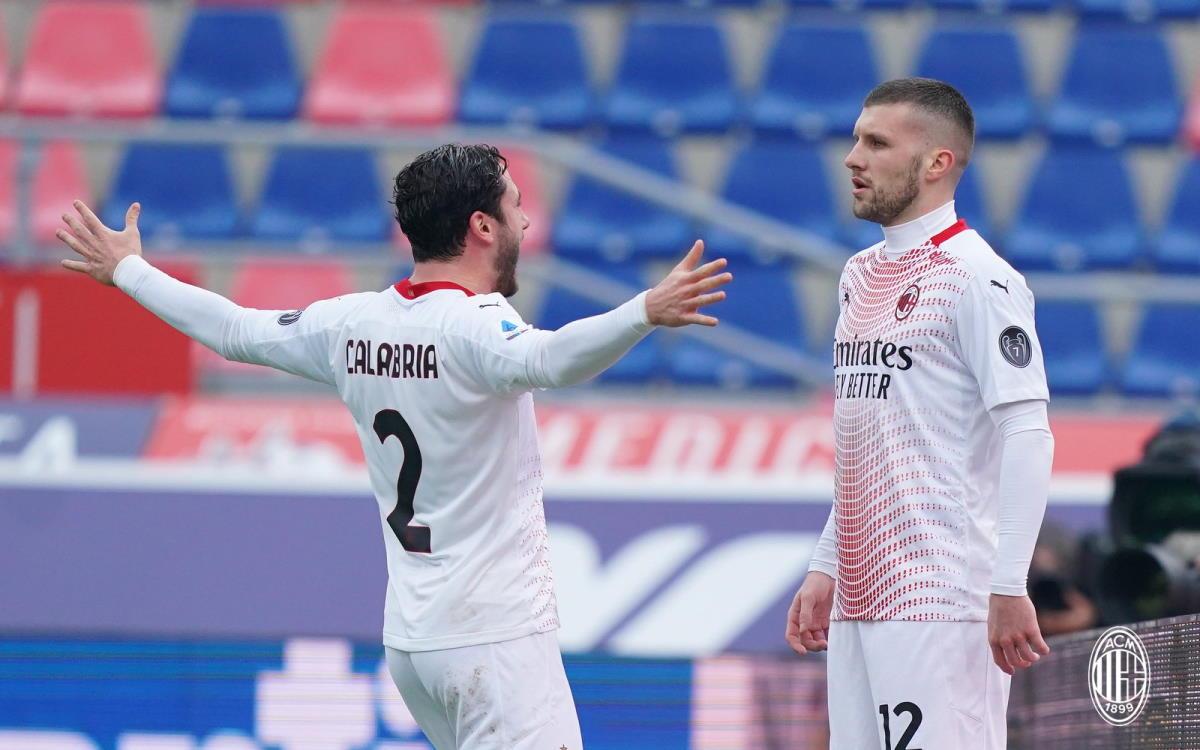 Il Milan vince in trasferta sul campo del Bologna grazie a due rigori