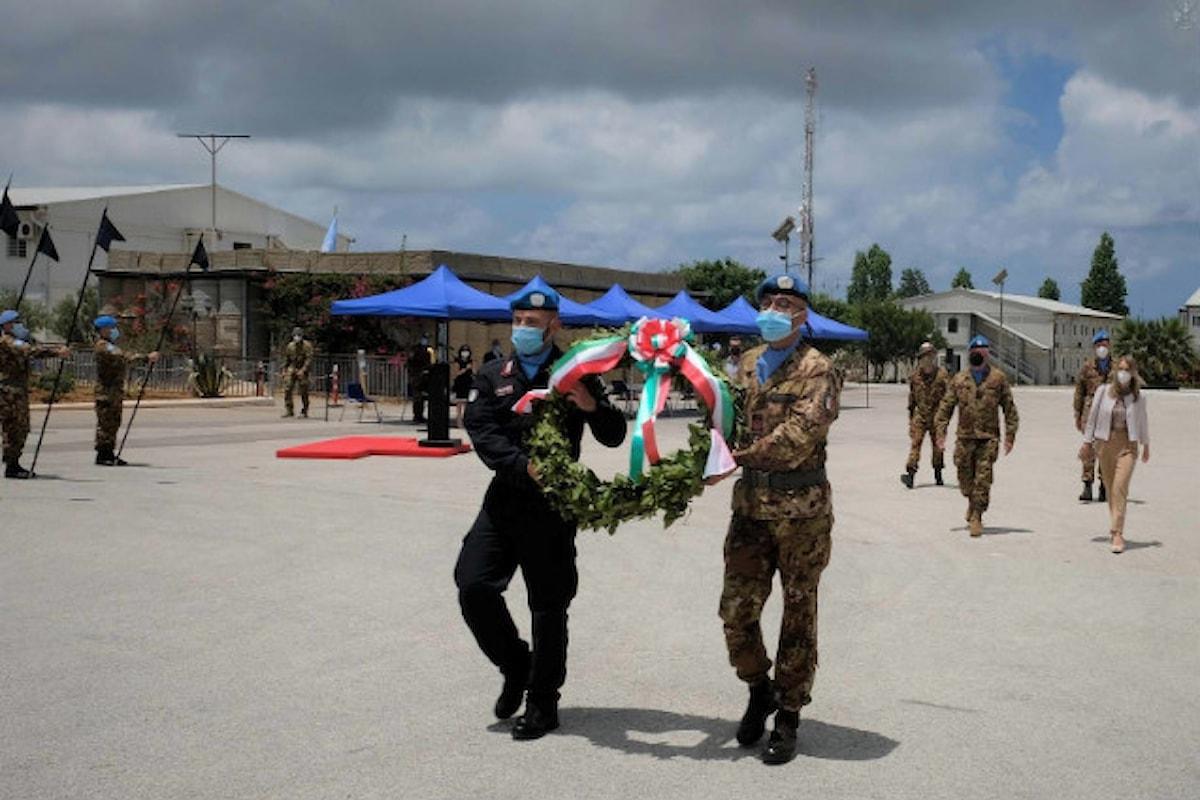 Shama i militari del contingente italiano celebrano la Festa della Repubblica con l'Ambasciatrice d'Italia in Libano