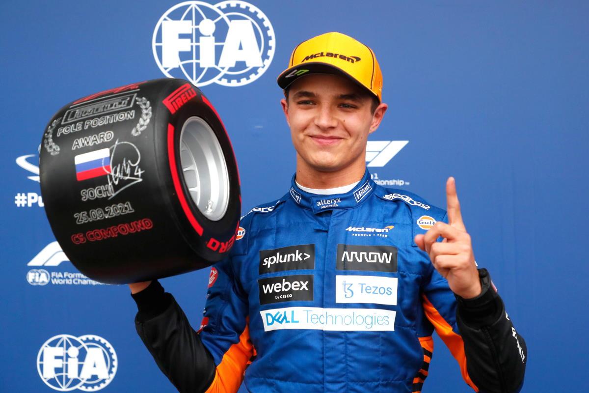Formula 1, è di Norris la pole del GP di Russia, Sainz secondo