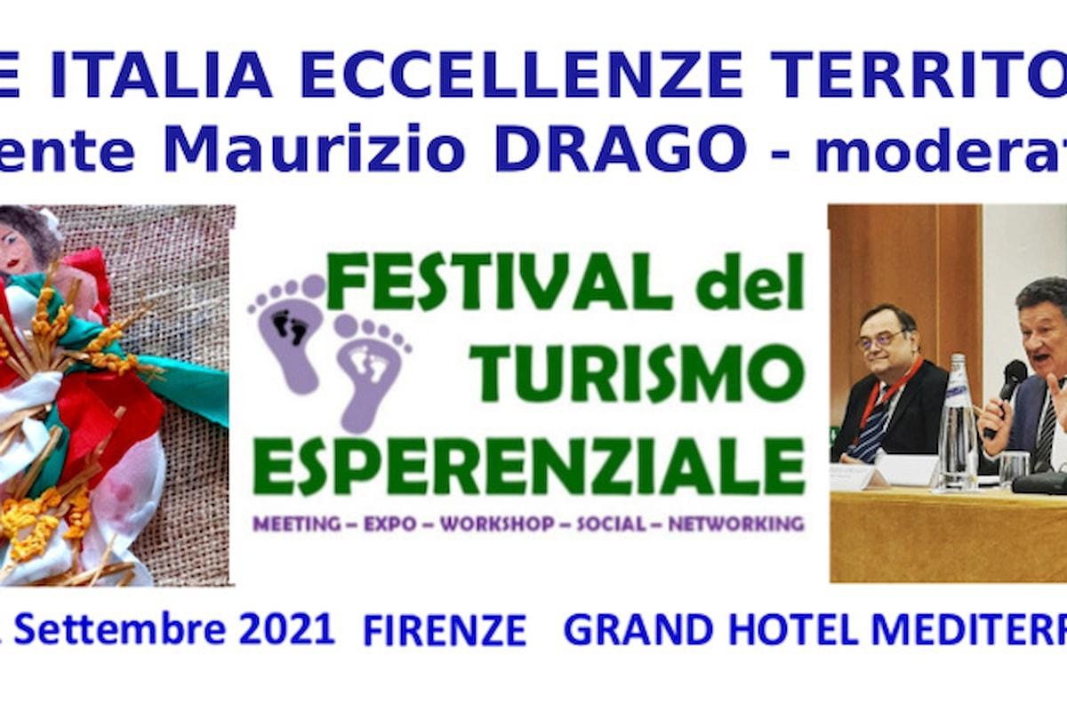 Il giornalista enogastroturista Maurizio DRAGO referente di RETE ITALIA ECCELLENZE TERRITORIO presente nella veste di moderatore al Festival del Turismo Esperenziale di Firenze