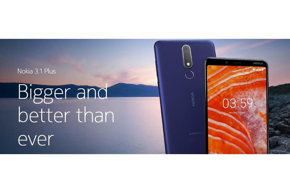 Nokia 3.1 Plus presentato ufficialmente: lo smartphone di fascia bassa con design premium