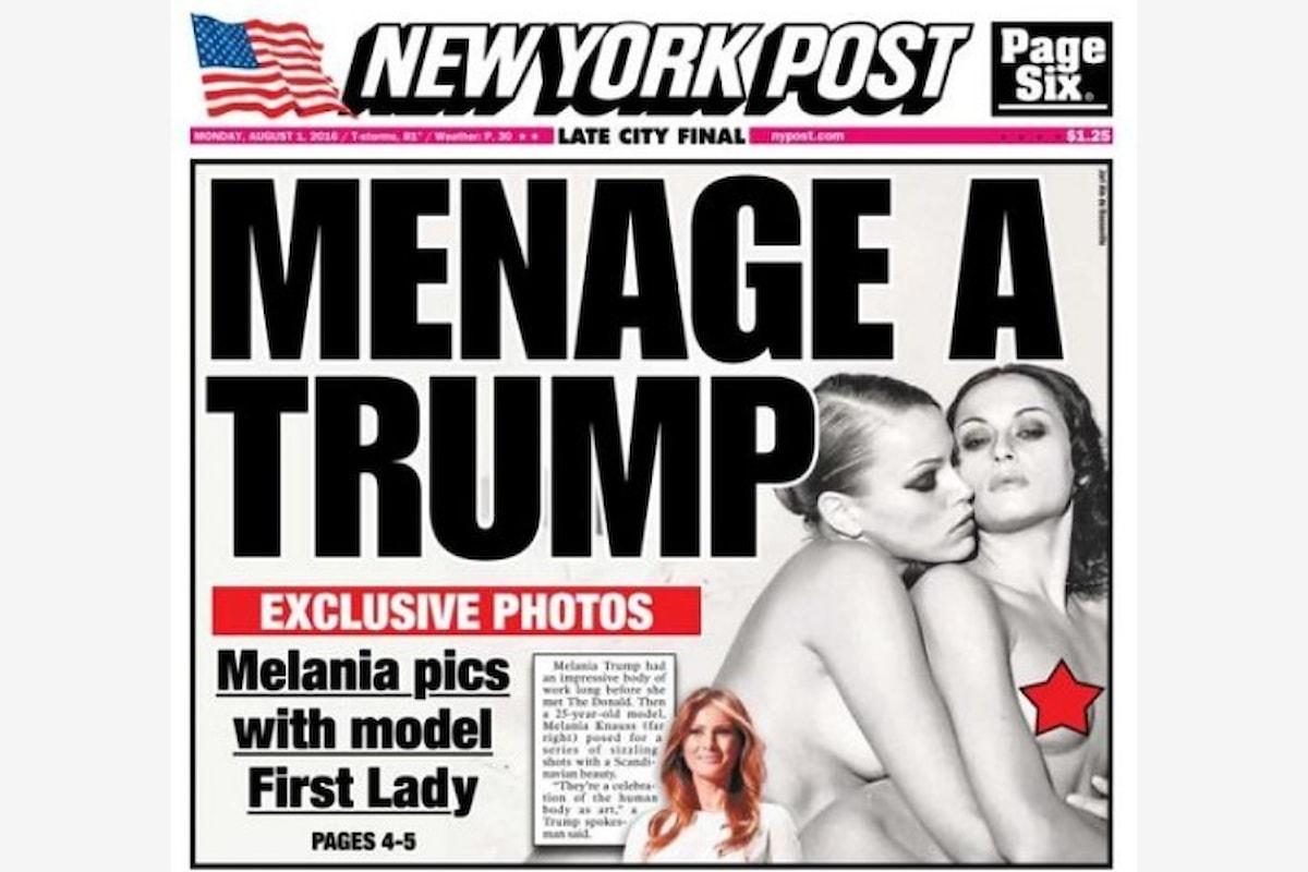 Melania Trump come non l'avete mai vista prima. Il New York Post pubblica i nudi della moglie del candidato repubblicano