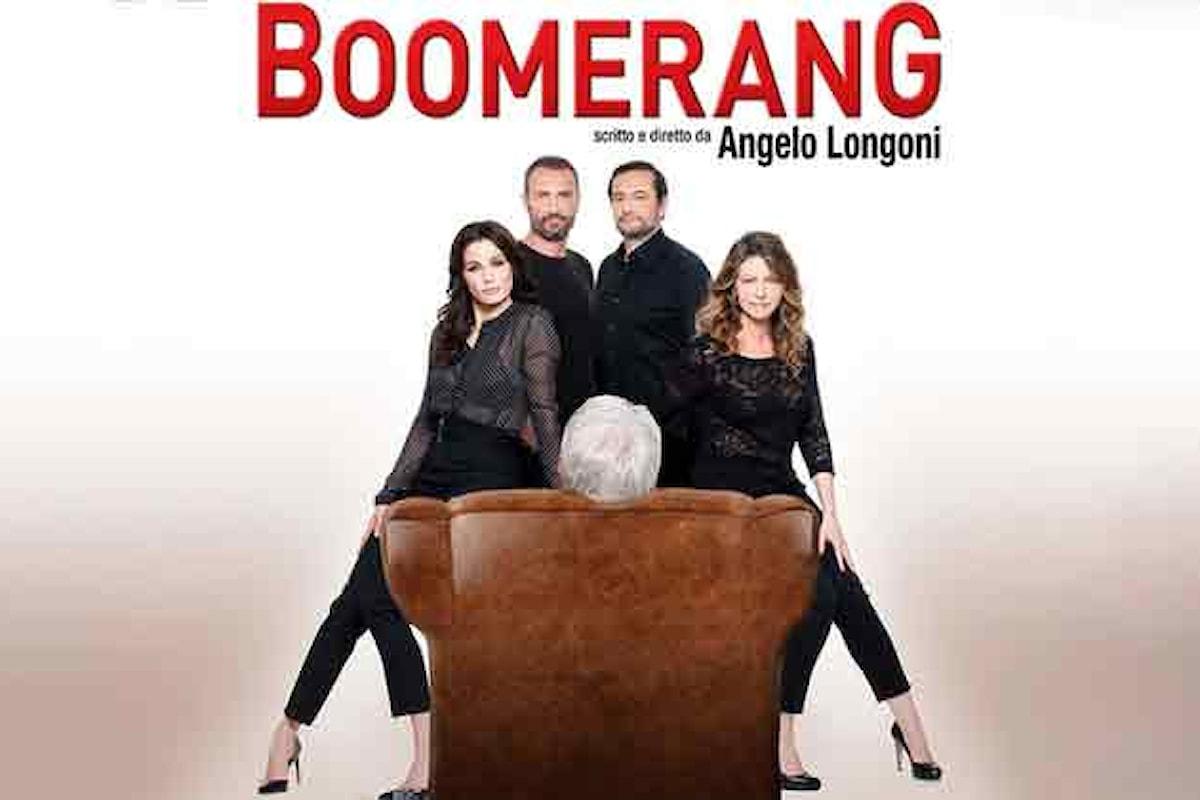 Al Teatro Sala Umberto di Roma torna Angelo Longoni con una commedia scorretta: Boomerang
