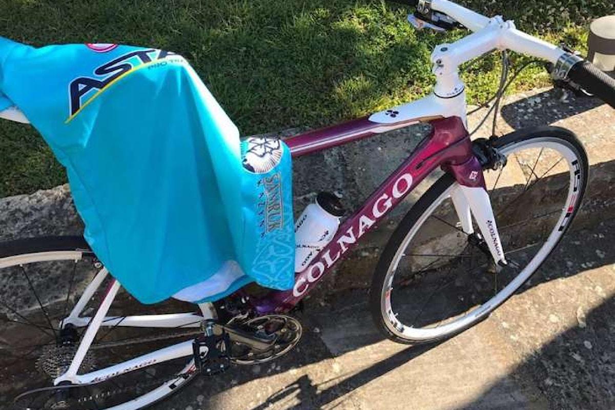 Matteo Renzi e la bellissima bici preparata dal Cavalier Colnago