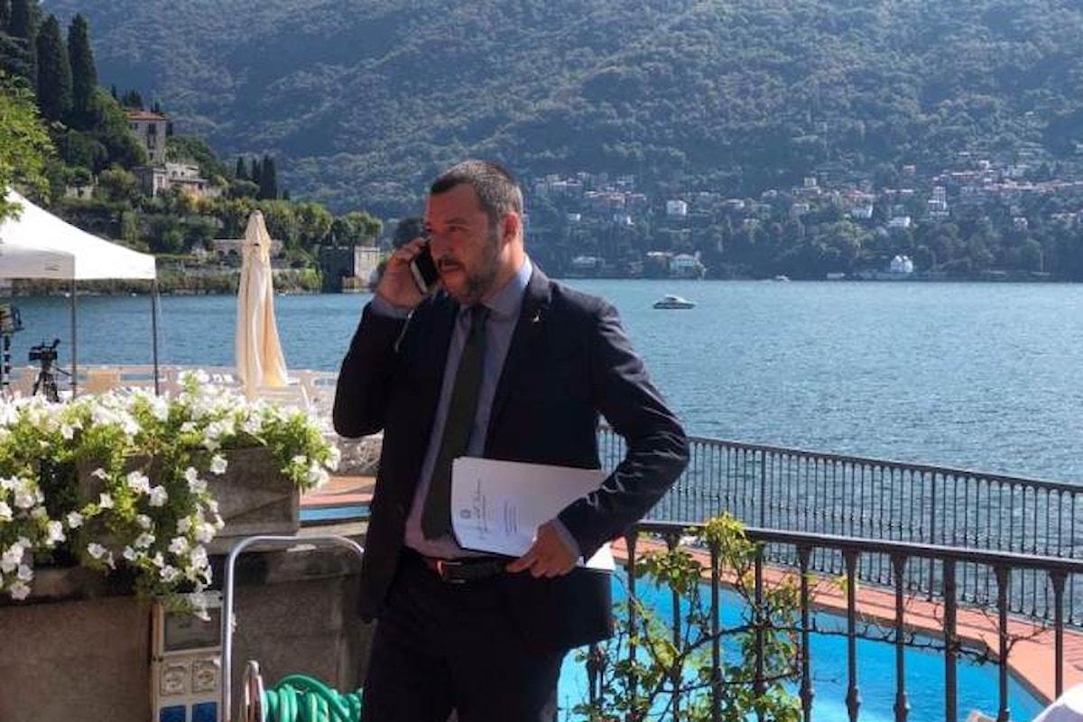 Salvini a Cernobbio: l'uomo più felice e fortunato del mondo