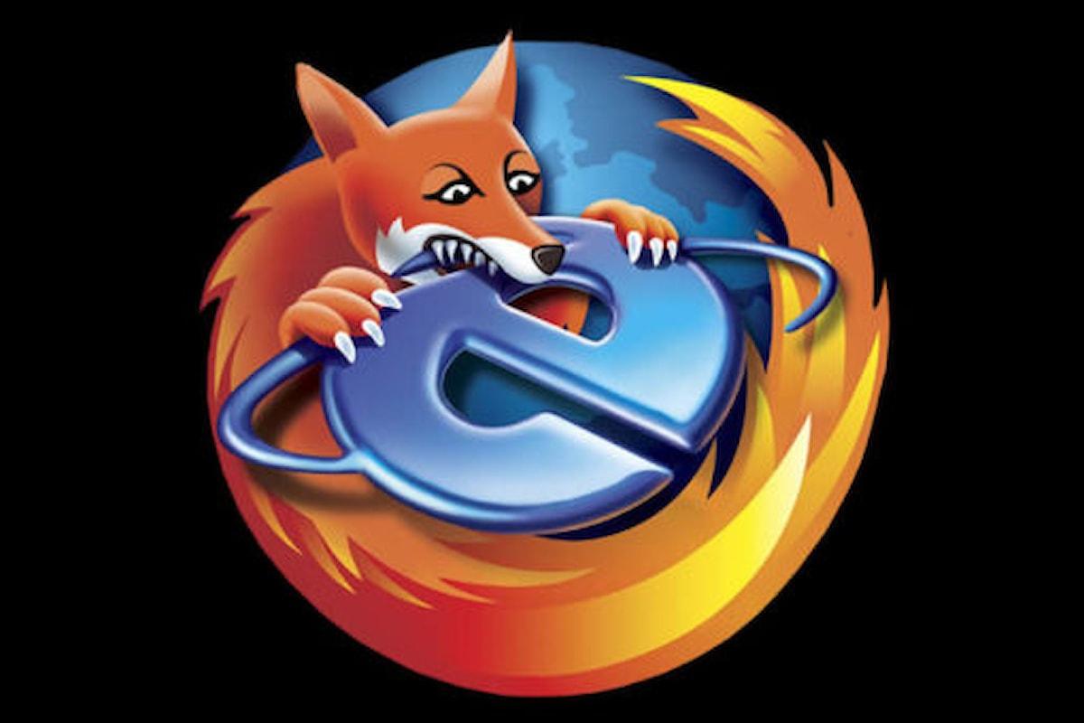 Firefox per la prima volta nella storia supera Internet Explorer | Surface Phone Italia