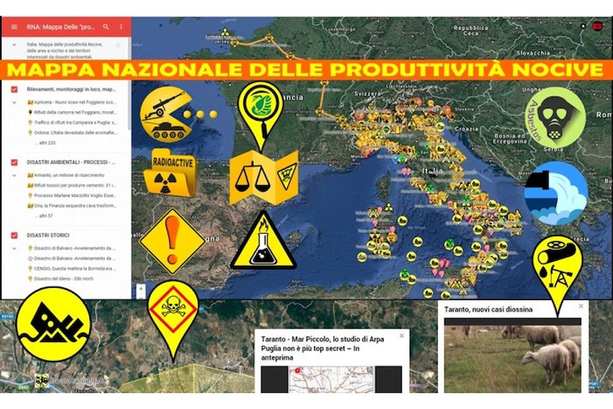Mappa nazionale delle produttività nocive in Italia con le prime mille recensioni