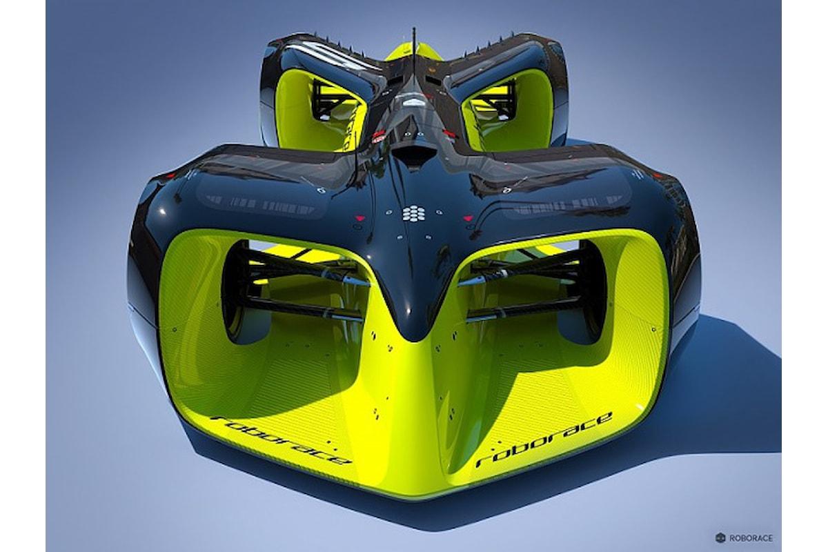 Ecco l'auto a guida autonoma che correrà la RoboRace Formula E!