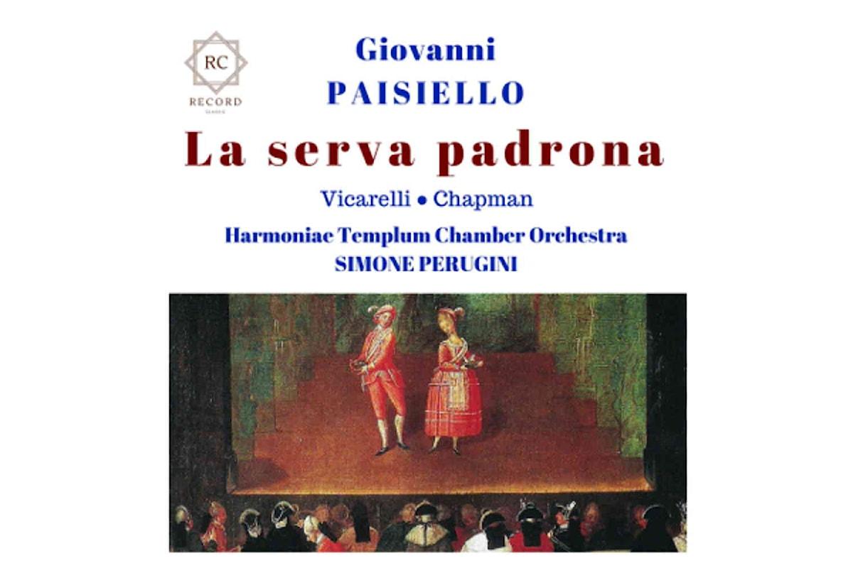La serva padrona di Giovanni Paisiello in uscita per Rc Record Classic Label