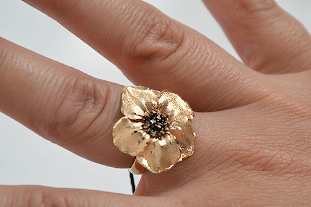 Anello oro 18 kt a forma di Pansè, per una gioiello alla moda!