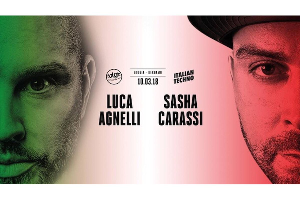 Luca Agnelli & Sasha Carassi fanno scatenare il Bolgia di Bergamo a ritmo di Italian techno