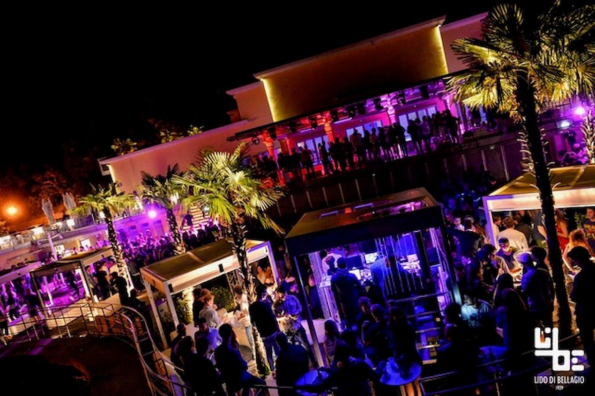Lido di Bellagio (CO): 7/7 Matteo Lotti (live) & Eleonora Rossi (vocalist) 8/7 Bomber Party 9/7 Aperol Spritz Beach Party