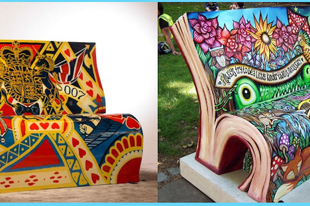 ★ Panchine - Libro a Londra e strane decorazioni a Madeira: è arte! ★