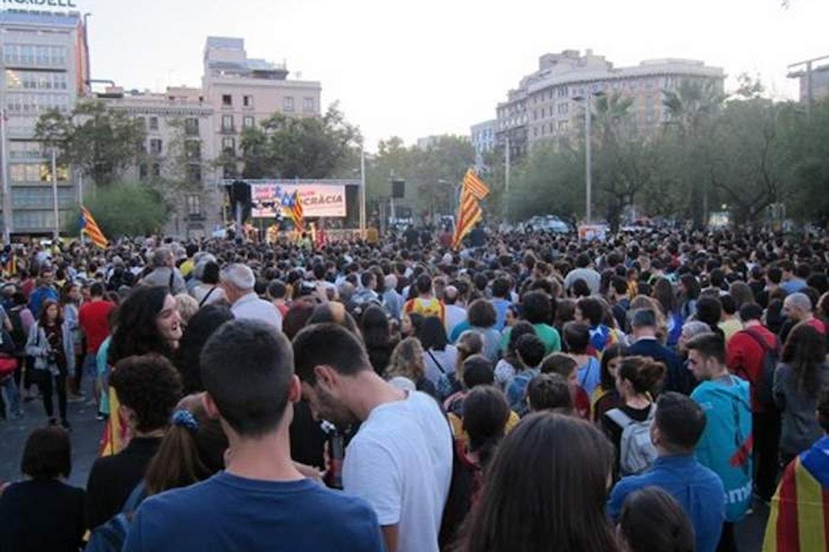 Lo sciopero degli studenti universitari a favore del Referendum in Catalogna