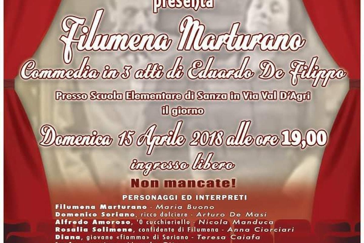 Sanza (SA): Filumena Marturano, in scena domenica 15 Aprile