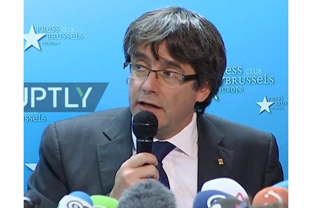 Puigdemont in conferenza da Bruxelles. Ecco che cosa ha detto