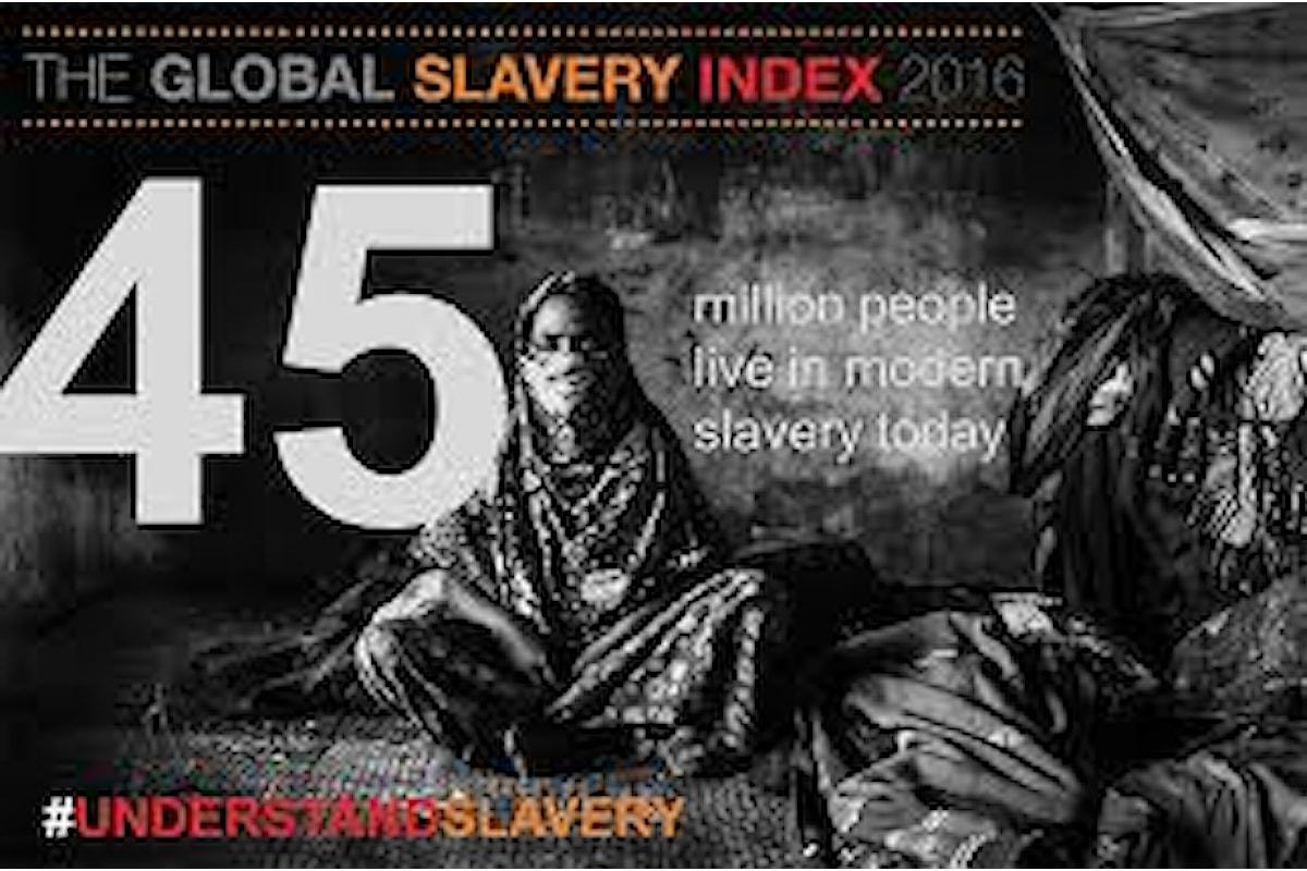 La crisi dei migranti aggrava il fenomeno della schiavitù in Europa secondo il Global Slavery Index 2016