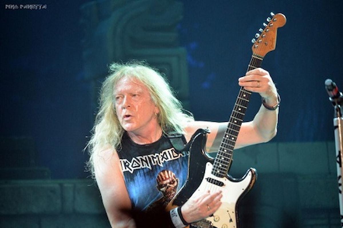 Il chitarrista degli Iron Maiden ospite da 'Amici' di Maria De Filippi, questo sabato 8 Aprile!