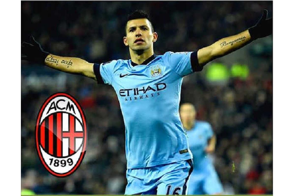 Mercato Milan, mega offerta dei rossoneri per Aguero