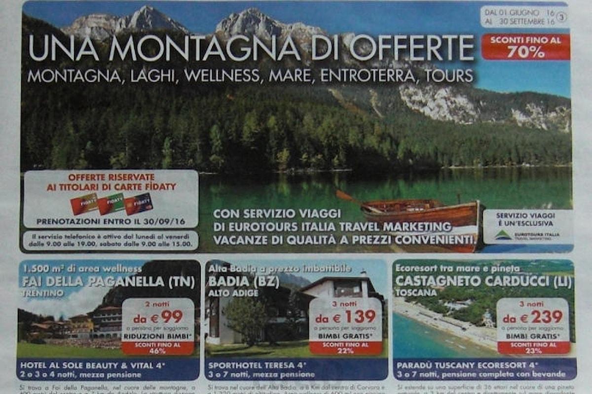 Una montagna di offerte, il nuovo volantino vacanze Esselunga con vacanze scontate fino al 70%!