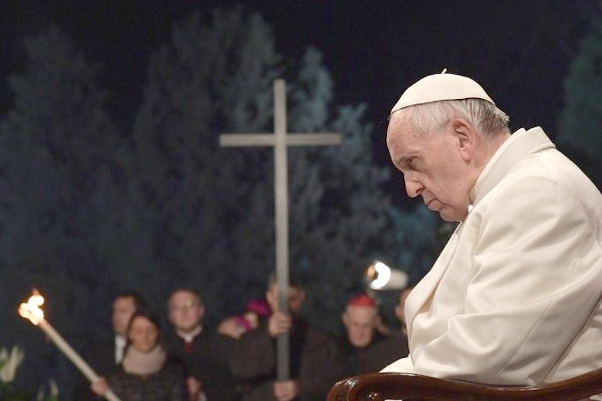 La preghiera del Papa al termine della Via Crucis del Venerdì Santo