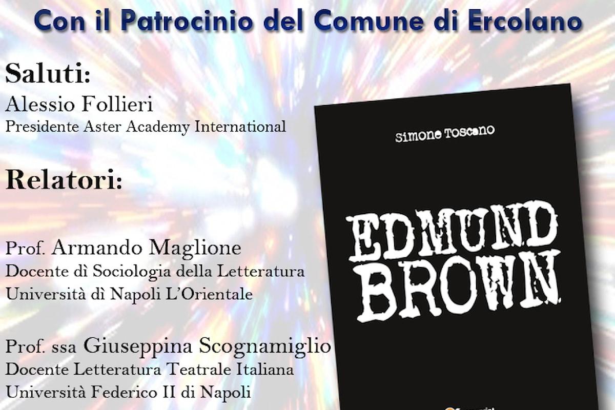 Simone Toscano presentazione del romanzo Edmund Brown ad Ercolano