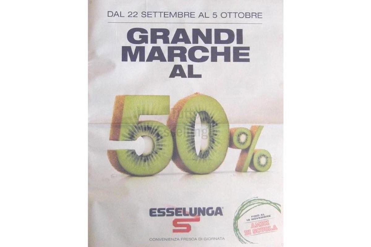 Grandi marche al 50%, il volantino Esselunga del 22 settembre 2016!