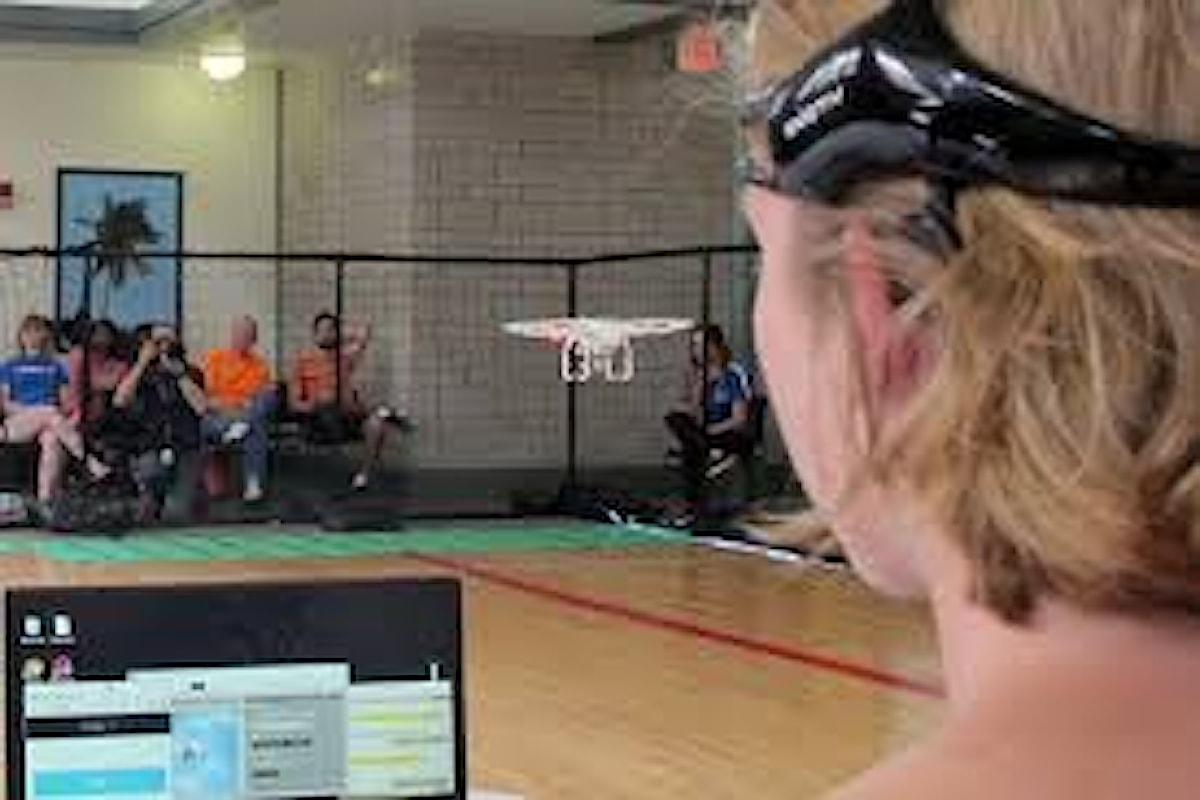 Una gara di droni guidati dalla forza del pensiero all'Università della Florida