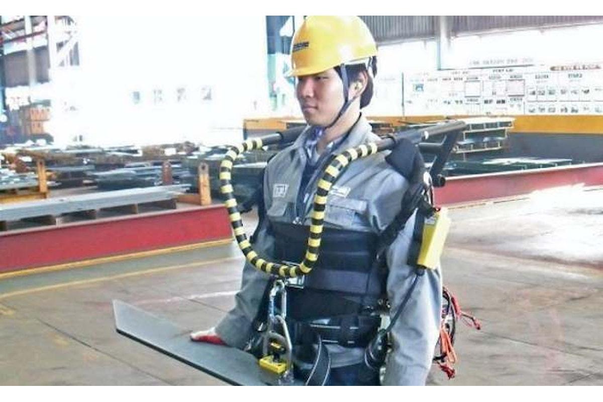 L'utilizzo dell'esoscheletro primo passo verso l'automazione completa delle fabbriche?