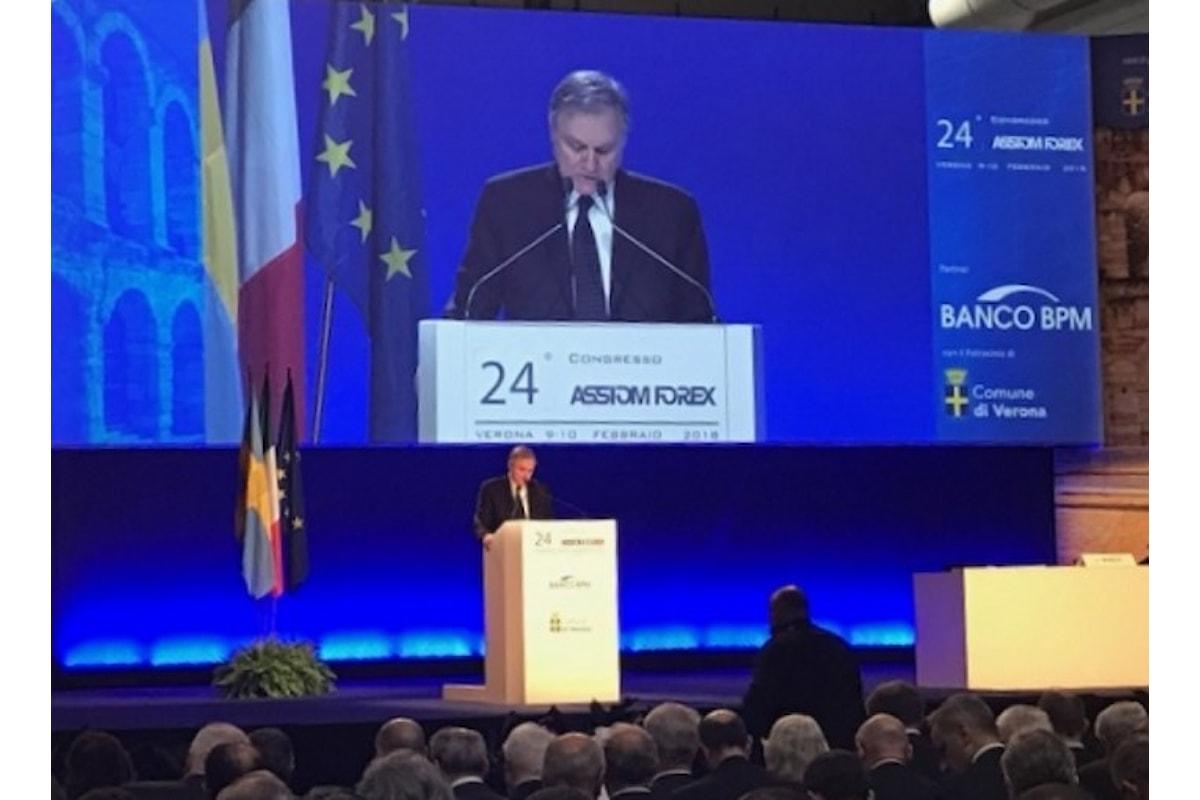 Congresso annuale Assiom Forex, il presidente di Confindustria Boccia alle elezioni tifa Pd