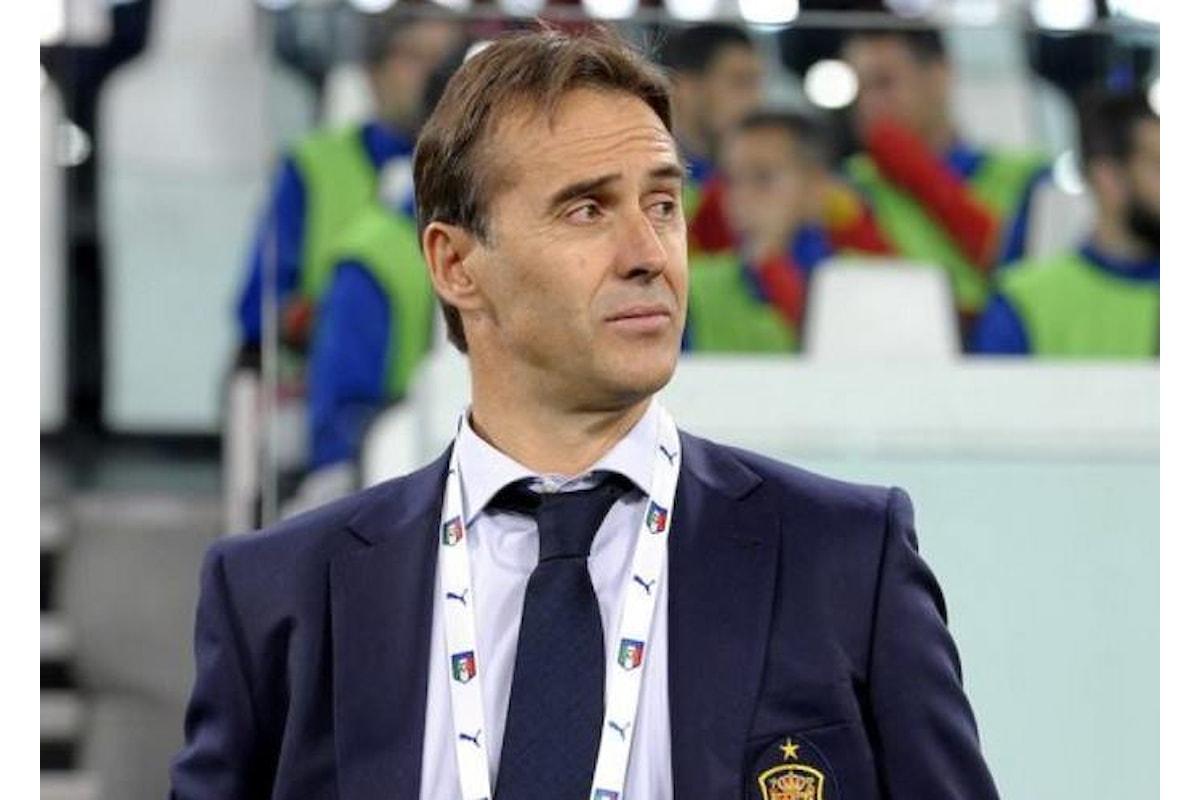 La Spagna alla vigilia dell'esordio nel Mondiale 2018 in Russia esonera il CT Julen Lopetegui