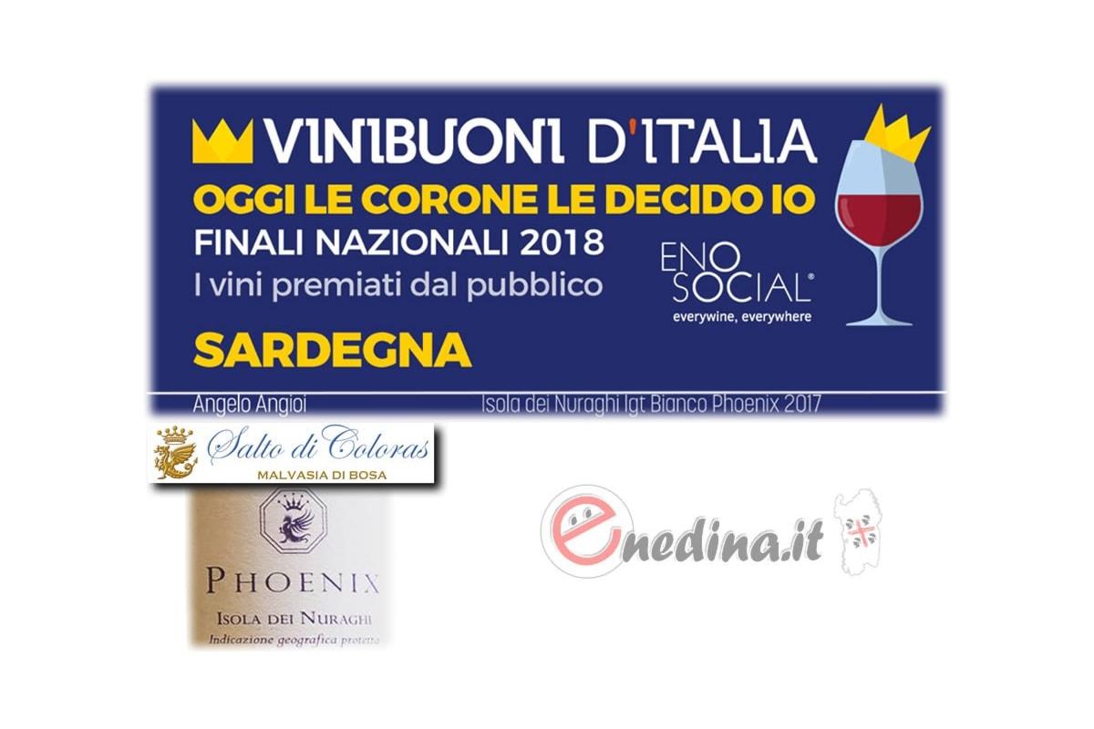 Vinibuoni d'Italia: premiato il malvasia secco Phoenix, IGT Isola dei Nuraghi